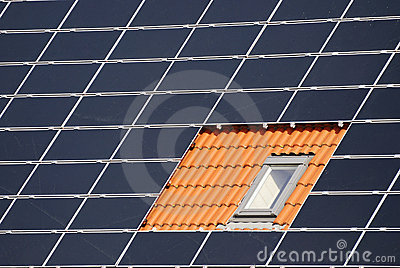Window between solar cells