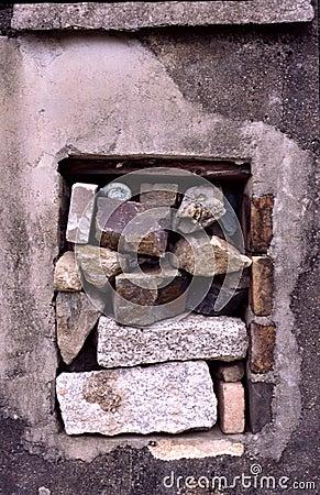 Window with stones