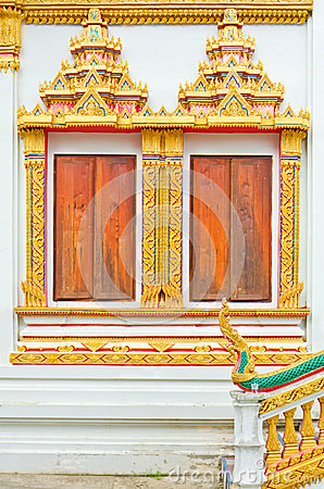 Window Thai temple