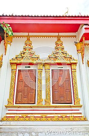 Window of Thai temple