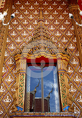 Window of Thai temple