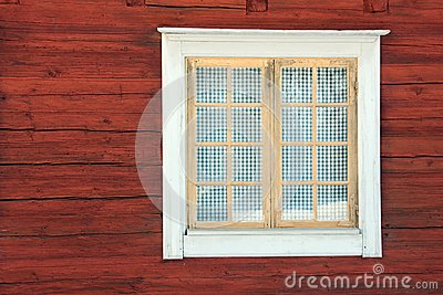 Window in a timber house
