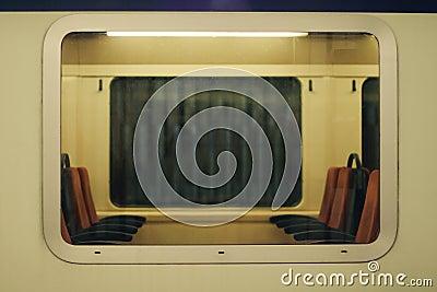 Window of a train