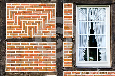 Window in wall of bricks