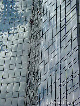 Free Window Washers High 1 Royalty Free Stock Photos - 535208