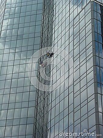 Free Window Washers High 5 Stock Photography - 535212