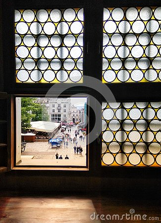 Free Window With A View Of Market Square In Lviv, Ukraine Royalty Free Stock Photography - 159787387