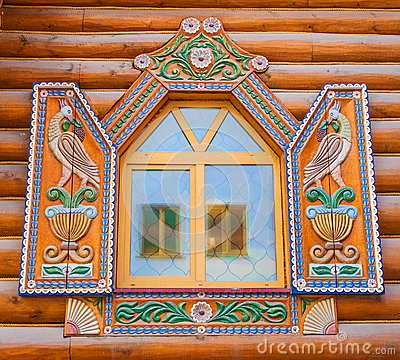 Free Window With Carved Shutters Stock Photos - 94250513