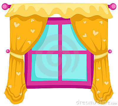Free Window With Curtains Royalty Free Stock Image - 13640486