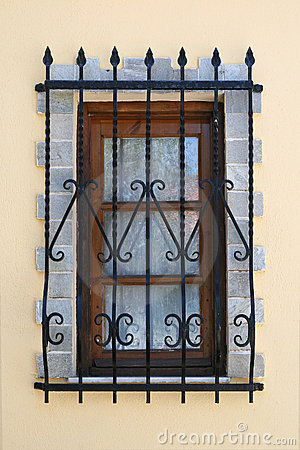 Free Window With Iron Security Bars Stock Photos - 14821893
