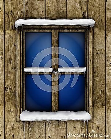 Free Window With Snow Stock Photos - 23604573
