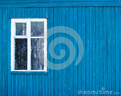 The window in a wooden wall
