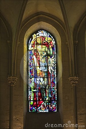 Windowpane from st. Peters church in Paris