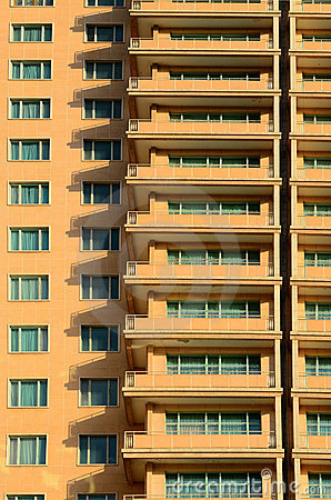 Free Windows And Shadows Of Modern Hotel Building Stock Image - 22581671