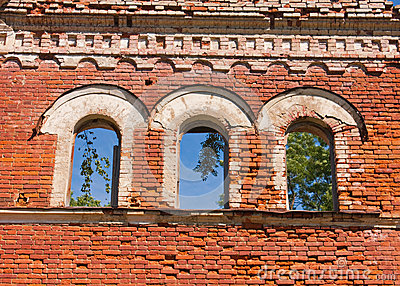 Windows of destroyed palace