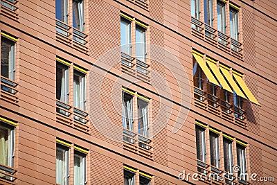 Windows on a building