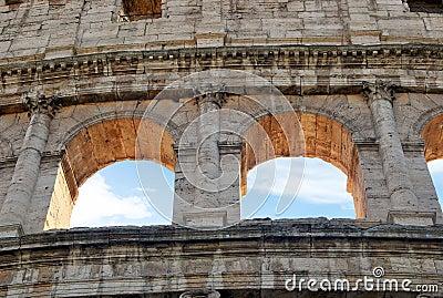 Windows of colosseum