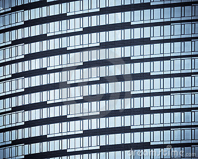 Windows dos prédios de escritórios