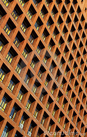 Windows on high rise building