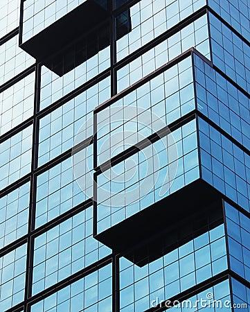 Windows of modern building