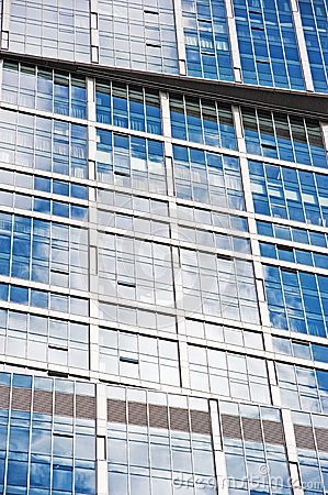 Windows of modern office building