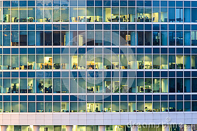The windows of office building
