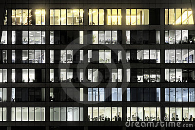 Windows of office are shone LOVE