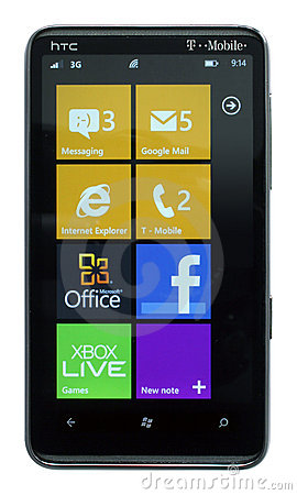 Windows Phone 7.5 Mango Editorial Stock Photo