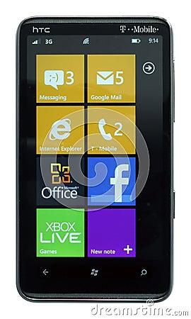 Windows Phone 7.5 Mango Editorial Stock Photo