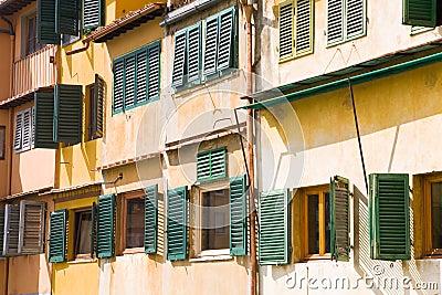 Windows Ponte Vecchio, Florence