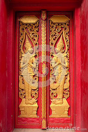 Windows of Thai temple