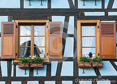 Windows of Timber Framing House