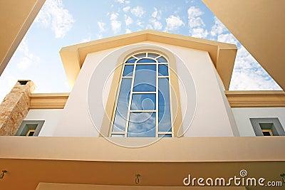 Windows of villa