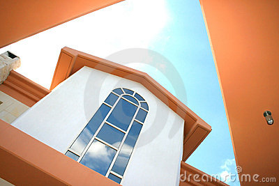 Windows of villa