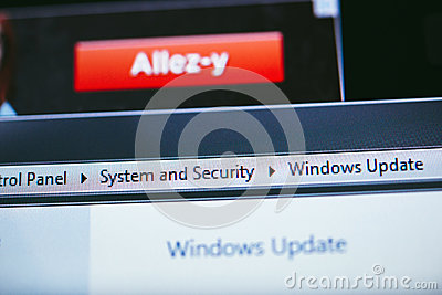 Windows XP Update Editorial Stock Image