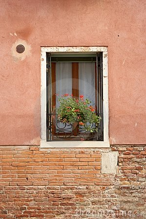 Windowsill - brick and stucco