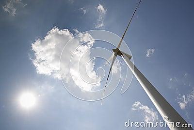 Windpower with sun