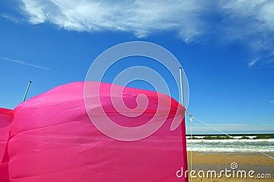 Windscreen on the beach