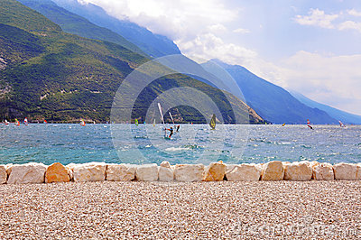 Windserfing on Garda lake