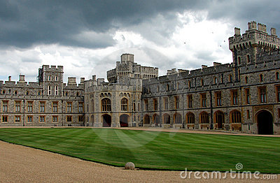 Windsor castle the courtyard Editorial Photography