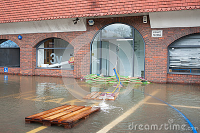 Windsor flooding Editorial Stock Image