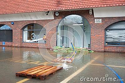 Windsor flooding Editorial Stock Image