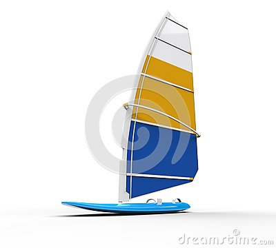Free Windsurf Board Shot On White Royalty Free Stock Photography - 59008577