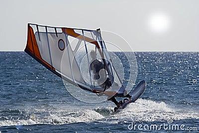 Windsurf jump.