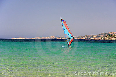 Windsurf in mediterranean sea