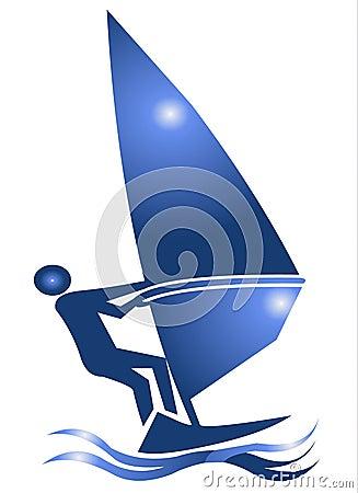 Windsurf Symbol Icon