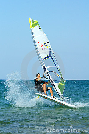 Windsurfer Editorial Photography