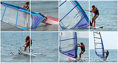 Windsurfer in action