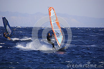 Windsurfer in Dahab Editorial Image