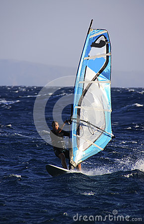 Windsurfer in Dahab Editorial Stock Photo